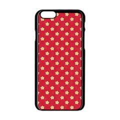 Pattern Felt Background Paper Red Apple Iphone 6/6s Black Enamel Case