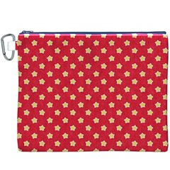 Pattern Felt Background Paper Red Canvas Cosmetic Bag (xxxl)