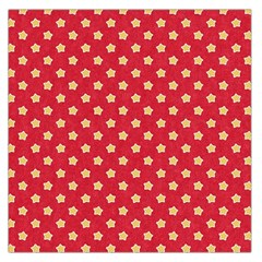 Pattern Felt Background Paper Red Large Satin Scarf (square)
