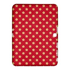 Pattern Felt Background Paper Red Samsung Galaxy Tab 4 (10.1 ) Hardshell Case