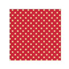 Pattern Felt Background Paper Red Small Satin Scarf (Square)