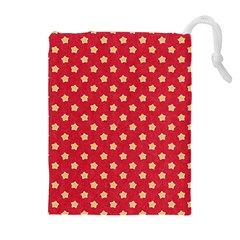 Pattern Felt Background Paper Red Drawstring Pouches (Extra Large)