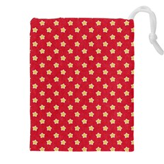 Pattern Felt Background Paper Red Drawstring Pouches (XXL)