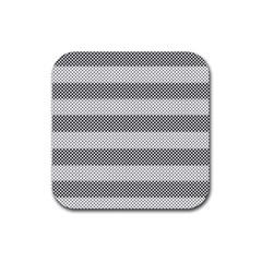 Pattern Half Tone Rubber Square Coaster (4 pack)