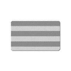 Pattern Half Tone Magnet (name Card)