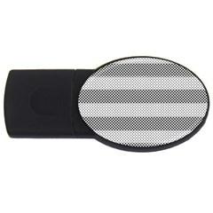 Pattern Half Tone Usb Flash Drive Oval (2 Gb)