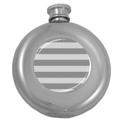 Pattern Half Tone Round Hip Flask (5 oz)