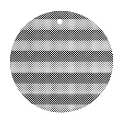 Pattern Half Tone Round Ornament (two Sides)