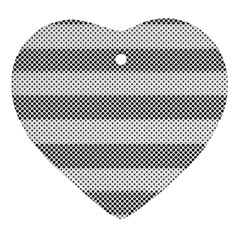 Pattern Half Tone Heart Ornament (two Sides)