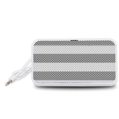 Pattern Half Tone Portable Speaker (white)