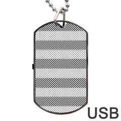Pattern Half Tone Dog Tag USB Flash (Two Sides)