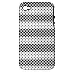 Pattern Half Tone Apple iPhone 4/4S Hardshell Case (PC+Silicone)