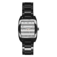 Pattern Half Tone Stainless Steel Barrel Watch