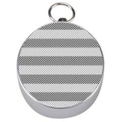 Pattern Half Tone Silver Compasses