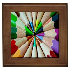 Pen Crayon Color Sharp Red Yellow Framed Tiles