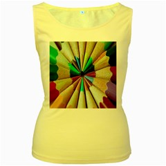 Pen Crayon Color Sharp Red Yellow Women s Yellow Tank Top