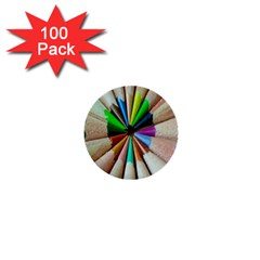 Pen Crayon Color Sharp Red Yellow 1  Mini Buttons (100 Pack)