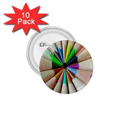 Pen Crayon Color Sharp Red Yellow 1.75  Buttons (10 pack)