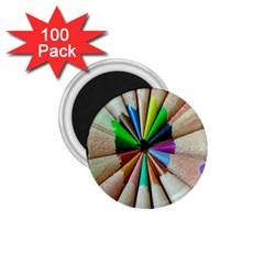 Pen Crayon Color Sharp Red Yellow 1.75  Magnets (100 pack)