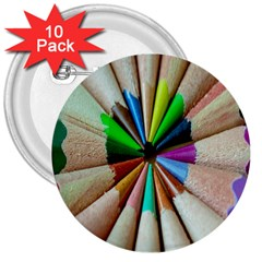 Pen Crayon Color Sharp Red Yellow 3  Buttons (10 pack)
