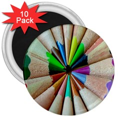 Pen Crayon Color Sharp Red Yellow 3  Magnets (10 Pack)