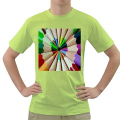 Pen Crayon Color Sharp Red Yellow Green T-Shirt