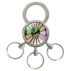 Pen Crayon Color Sharp Red Yellow 3-Ring Key Chains