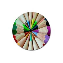 Pen Crayon Color Sharp Red Yellow Magnet 3  (round)