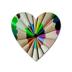 Pen Crayon Color Sharp Red Yellow Heart Magnet