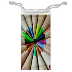 Pen Crayon Color Sharp Red Yellow Jewelry Bag