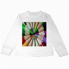 Pen Crayon Color Sharp Red Yellow Kids Long Sleeve T Shirts