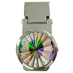 Pen Crayon Color Sharp Red Yellow Money Clip Watches