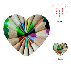Pen Crayon Color Sharp Red Yellow Playing Cards (Heart)