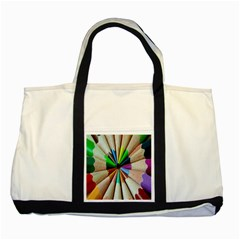 Pen Crayon Color Sharp Red Yellow Two Tone Tote Bag