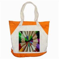 Pen Crayon Color Sharp Red Yellow Accent Tote Bag