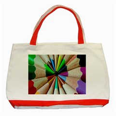 Pen Crayon Color Sharp Red Yellow Classic Tote Bag (Red)