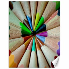 Pen Crayon Color Sharp Red Yellow Canvas 12  x 16