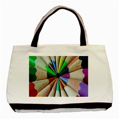 Pen Crayon Color Sharp Red Yellow Basic Tote Bag (two Sides)