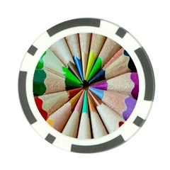 Pen Crayon Color Sharp Red Yellow Poker Chip Card Guard
