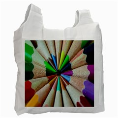 Pen Crayon Color Sharp Red Yellow Recycle Bag (One Side)