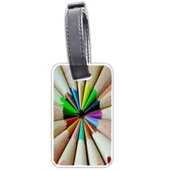 Pen Crayon Color Sharp Red Yellow Luggage Tags (One Side)
