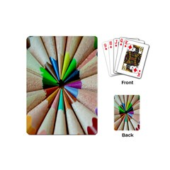 Pen Crayon Color Sharp Red Yellow Playing Cards (Mini)