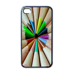Pen Crayon Color Sharp Red Yellow Apple Iphone 4 Case (black)