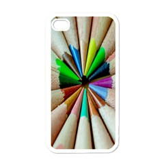 Pen Crayon Color Sharp Red Yellow Apple iPhone 4 Case (White)