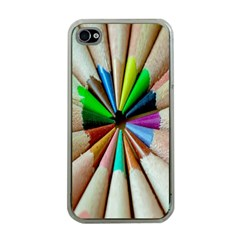 Pen Crayon Color Sharp Red Yellow Apple Iphone 4 Case (clear)