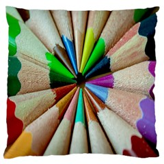 Pen Crayon Color Sharp Red Yellow Large Cushion Case (two Sides)
