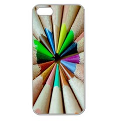 Pen Crayon Color Sharp Red Yellow Apple Seamless iPhone 5 Case (Clear)