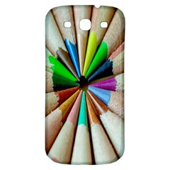 Pen Crayon Color Sharp Red Yellow Samsung Galaxy S3 S Iii Classic Hardshell Back Case