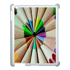 Pen Crayon Color Sharp Red Yellow Apple Ipad 3/4 Case (white)