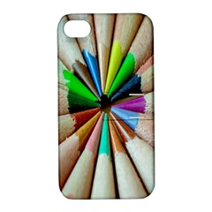 Pen Crayon Color Sharp Red Yellow Apple Iphone 4/4s Hardshell Case With Stand